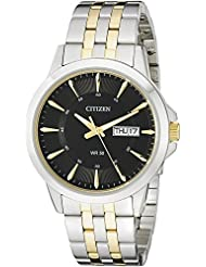 Citizen Mens Quartz Stainless Steel Watch with Day/Date, BF2018-52E