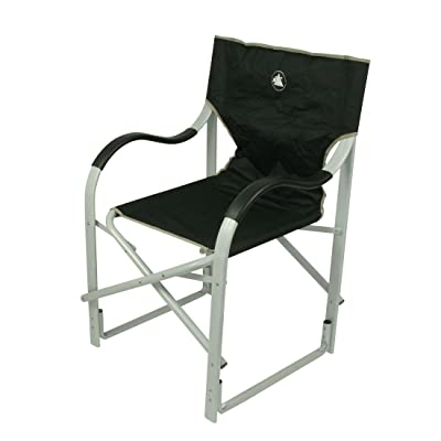 10T Alloy Director Chaise de camping léger stable et pliant Noir/Gris