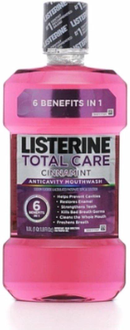 Listerine Total Care Anticavity Mouthwash, Cinnamint 33.8 oz (10 Pack)