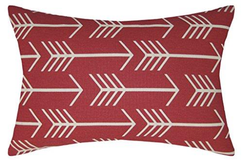 JinStyles Arrow Cotton Canvas Lumbar Decorative Throw Pillow