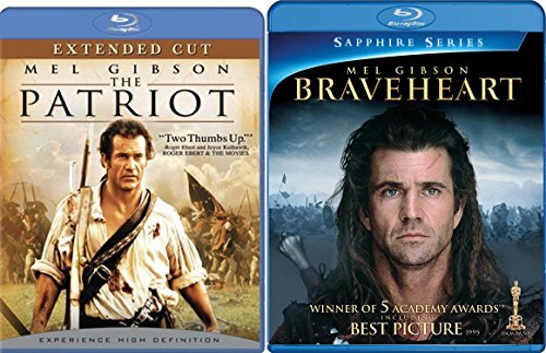 The Patriot Extended + Braveheart Blu Ray 2 Pack Epic Movie Mel Gibson Action Set