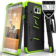 Samsung Galaxy Note 5 Case, Zizo [Bolt Series] w/ [Galaxy Note 5 Screen Protector] Kickstand [Military Grade Drop Tested] Holster Clip- Note 5 N920A