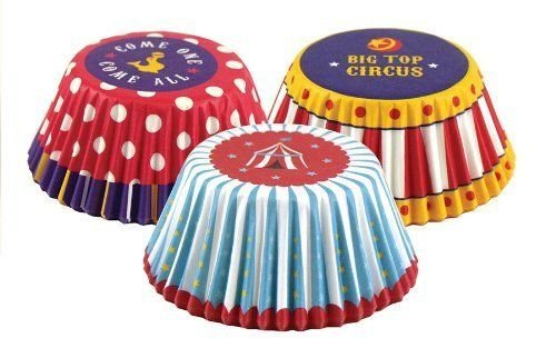Fox Run Big Top Circus Paper Mini Party Bake Cups 75 Pack...