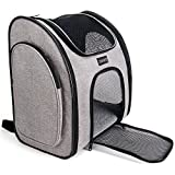Serapis Airline-Approved Pet Carrier Backpack,Soft-Sided,Collapsible for Small Dogs Cats, Ventilate Designed Two-Sided Entry, Safety Features and Cushion Back Support for Travel, Outdoor Use For Sale