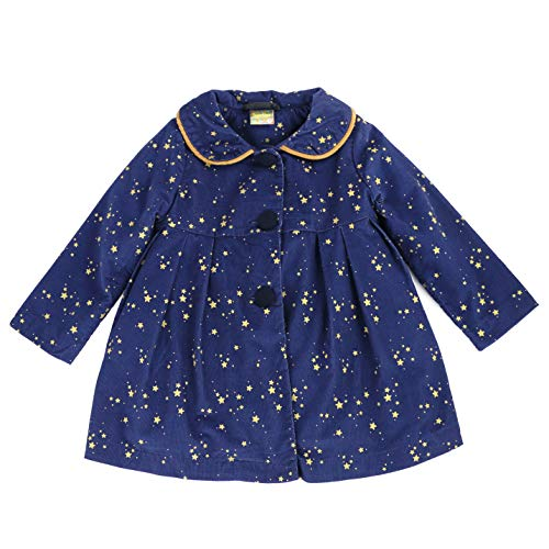 Maria Elena - Toddlers and Girls Salma Swing Jacket with Fleece Lining in Navy 7/8 -
