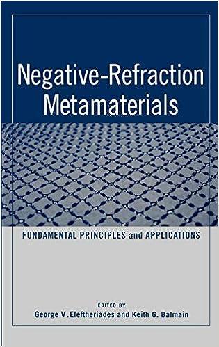 Negative Refraction Metamaterials: Fundamental Principles and Applications