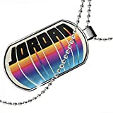 Dogtag Retro Cites States Countries Jordan Dog tags necklace - Neonblond