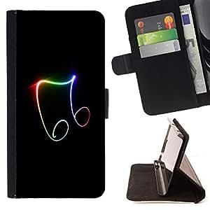 For Sony Xperia m55w Z3 Compact Mini - Beautiful Music Symbols /Funda de piel cubierta de la carpeta Foilo con cierre magn???¡¯????tico/ - Super Marley Shop -