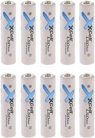 Pack de 8 Pilas AAA LSD Basic NI-Mh 1,2 V 800 mAh Low Self Discharge batería generación de Micro baterías Akkuman.de Set 10er AAA: Amazon.es: Electrónica