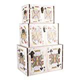 MONTE CARLO SET OF 3 PLAYING CARDS DESIGN STORAGE BOXES