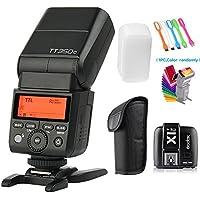 Godox TT350S 2.4G HSS 1/8000s TTL GN36 Wireless Speedlite Flash light with X1T-S Flash Trigger Transmitter for Sony A7 A7R A7S A7 II A7R II A7S II A6300 A6000 camera+Filters & USB LED Free Gift