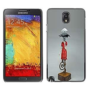 Shell-Star Art & Design plastique dur Coque de protection rigide pour Cas Case pour SAMSUNG Galaxy Note 3 III / N9000 / N9005 ( Umbrella Statue Climate Change Art Modern )