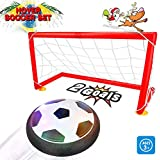 Kids Toys Air Power Soccer with 2 Gate Set for Kids Christmas Gift Boys Girls Air Power Training Ball Indoor Outdoor Disk Game with LED Lights with Music