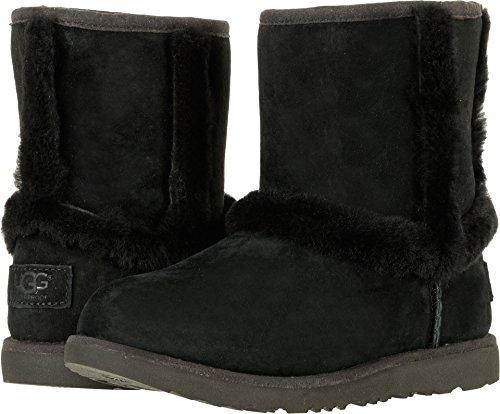 UGG Girls K Hadley II WP Pull-on Boot, Black, 5 M US Big Kid -