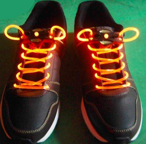 注目浴びる「LEDで光る靴ひも」選べるカラバリ 16色 点灯は 3パターン 夜間のウォーキング、犬の散歩、クラブやフェスに (イエロー)