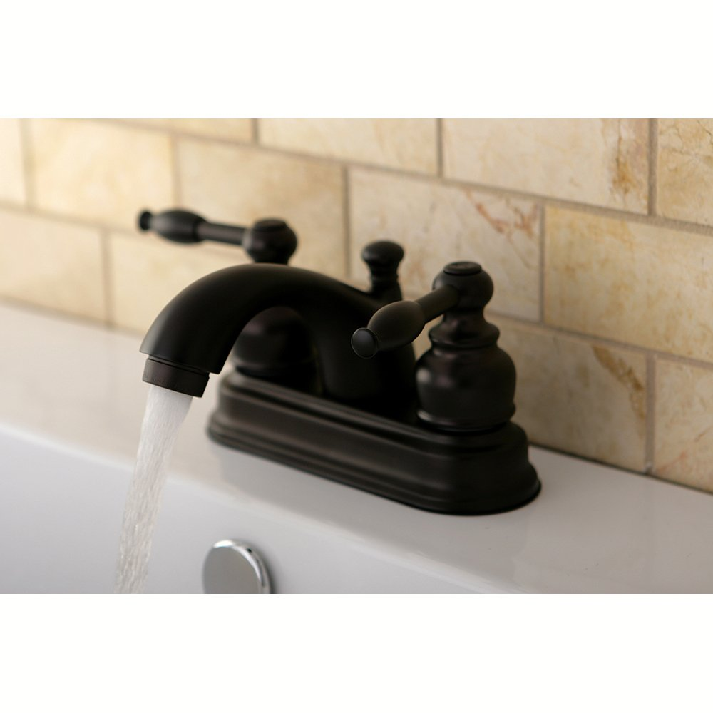 shop bathroom windemere watersense bronze faucets pd rubbed handle in oil drain centerset included delta faucet