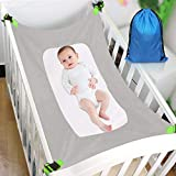 Baby Hammock for Crib, Soft and Comfortable Material with Strong Adjustable Straps, Mimics The Womb, Upgraded Safety Measures, Newborn Hammock (Grey)