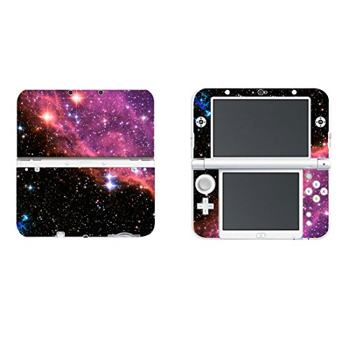 Protective Vinyl Skin Sticker Cover Wrap for New Nintendo 3DS XL / LL Red Starry Sky