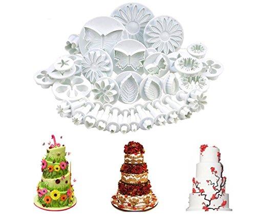 - NANHONG 33Pcs/Set Cake Mould Set,Baking Set Cake Decorating Tools Flower Moulds Set, Star and Heart Shape Baking Set
