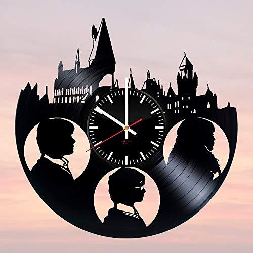 Harry Potter Fantasy Handmade Vinyl Record Wall Clock - Get unique bedroom or nursery wall decor - Gift ideas for boys and girls – Fantasy Movie Unique Modern Art ()