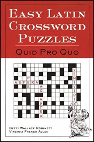 Easy Latin Crossword Puzzles 1st Edition