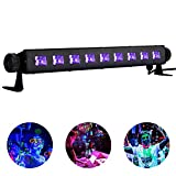Black Light, Viugreum 27W 9LED UV Bar Light for Glow Party, Halloween, Disco DJ Poster Tapestry and UV Body Paint - Metalic Black