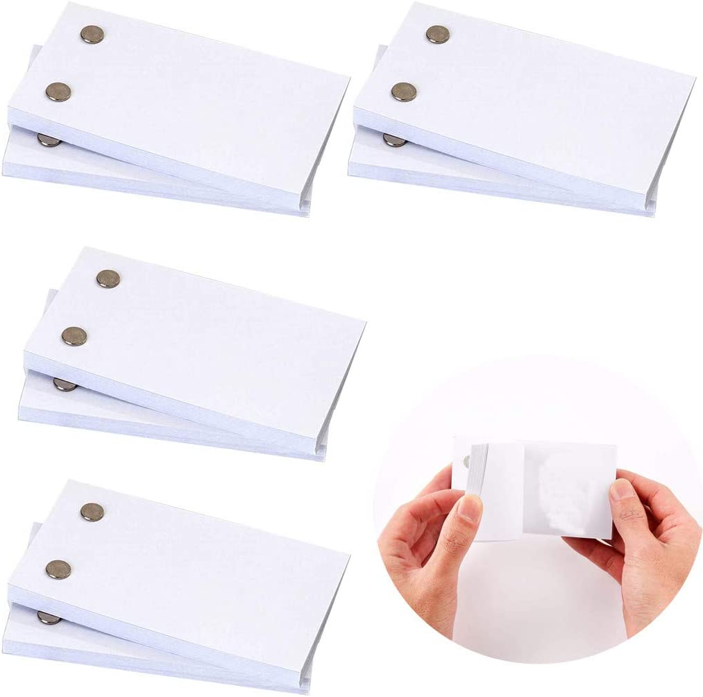 """No Bleed Drawing Paper with Sewn Binding Blank Flip Book Paper with Holes 4.5/"""" x 2.5/"""" DIY Craft for Kids Gift Sketching and Cartoon Creation Blank Flipbooks for Animation 1PC 60 Sheets"""