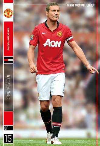 Nemanja Vidic Manchester United R Panini Football League Panini Football League 2014 03 pfl07-055