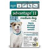 Bayer Advantage II, Medium Dogs, 11 to 20-Pound, 6-Month
