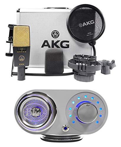 AKG C414 XLII Studio Condenser Recording Microphone Mic+Blue Robbie - Akg Microphone 414