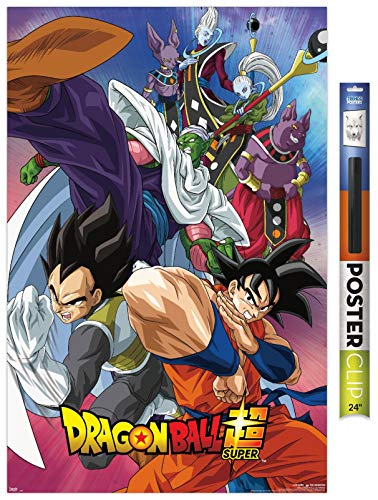 "Trends International Dragon Ball: Super - Group Wall Poster, 22.375"" x 34"", Poster & Clip Bundle"