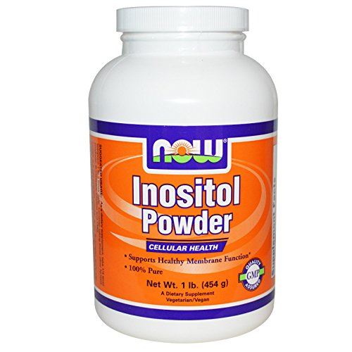 Now Foods 100% Pure Inositol Powder, Powder 1 lb (Pack of 4) by NOW Foods