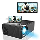 Home Video Projector, iBosi ChengMini Portable Video ProjectorSupport 1080P with 170'' Display, HDMI VGA USB AV SD Connected with Laptop/iPad Smartphone Xbox for Movie Game Party