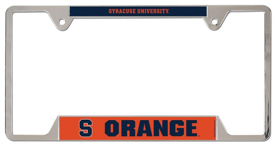 Wincraft Syracuse Orange Metal License Plate Frame