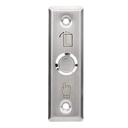 Interruptor de Liberación, Acero inoxidable Táctil Puerta Pulsador para de Apagado/Encendido, Sistema de Control de Acceso, Puerta Desbloqueo Botón de ...