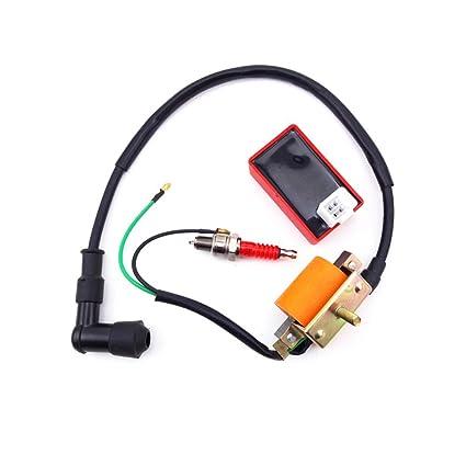 Amazon com: TC-Motor Racing Ignition Coil + A7TC Spark Plug