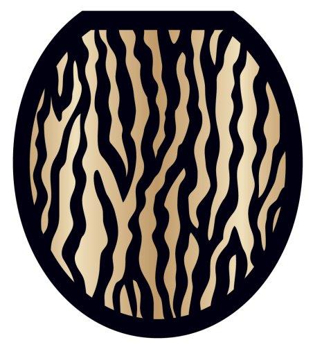 Toilet Tattoos TT-2000-R Zebra Design, Round