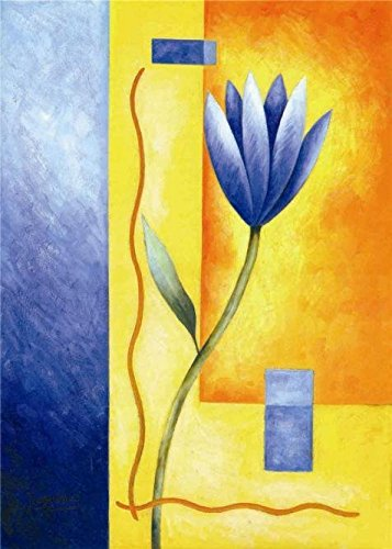 The High Quality Polyster Canvas Of Oil Painting 'Blue Flowe