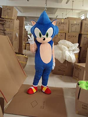 Amazon Com Professional Hedgehog Sonic Mascot Costume Adult Halloween Costume Fancy Dress Outfit Sports Outdoors