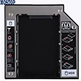 MOSTOP(TM) Stainless Steel SATA 2nd HDD HD Hard Drive Caddy Case for 12.7mm Universal Laptop CD / DVD-ROM Optical Bay
