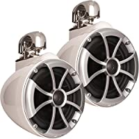 Wet Sounds 2) ICON 8 Swivel Clamp Tower Speakers - Pair White