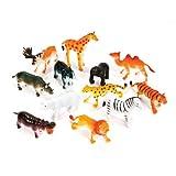 little animal figures - 12 Little Zoo Animals