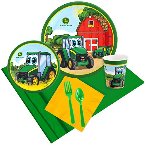 BirthdayExpress John Deere Johnny Tractor 16 Guest Party Pack (Party Tractor)