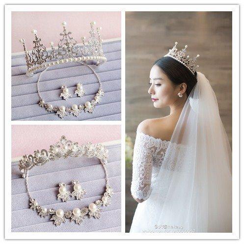 Generic The bride headdress bride crown tiara tiara golden leaves hair bands of the Greek goddess of marriage hair accessories frontlet Wang Guan -