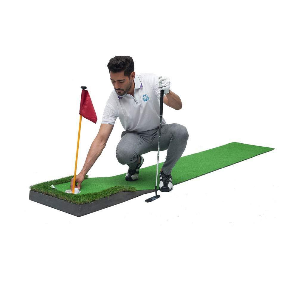 WU Golf Putting Practicer - 屋内ゴルフ練習毛布 - ミニゴルフグリーンセット、A、ワンサイズ B07MKM4MZ1