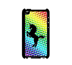 Rainbow Dots Unicorn iPod Touch 4 Case - For iPod Touch 4 4G - Designer Plastic Snap on Case
