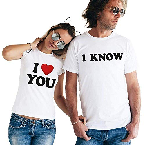 I-Love-You I-Know Matching-Couple Happy-Valentine-Day-Gift His-Her T-shirt Customized Handmade Hoodie/Sweater/Long Sleeve/Tank Top/Premium T-shirt -
