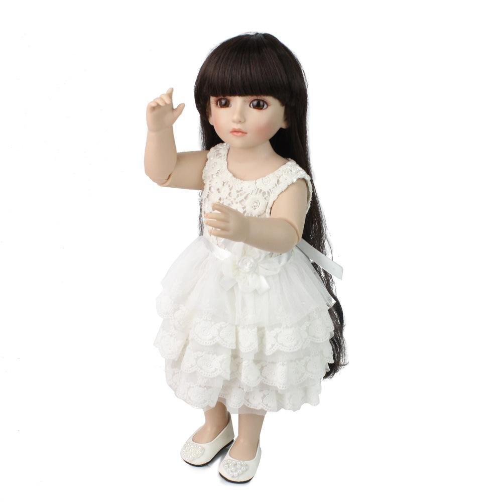 LINAG Babypuppen Reborn Baby Vinyl Realistische Silikon Weißh Lebensechte Wirkendes Neugeborene Wiedergeboren Spielkameraden Spielhausspielzeug 48cm Simulation Mädchen Geschenk