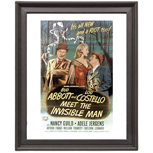 Abbott and Costello Meet the Invisible Man 4 - Picture Frame 8x10 inches - Poster - Print