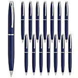 Estrella (15 Pack) Twist Pens Medium Point Ballpoint Pens Retractable Metal Ink Office Supplies